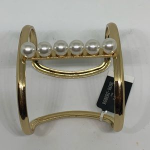 INC International Concepts Jewelry - INC Pearl and Gold Cuff Bracelet [JW-105]